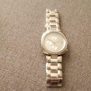 DKNY Silvertone Chronograph Watch